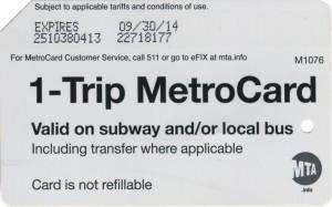 1 Trip Metrocard Bold Font