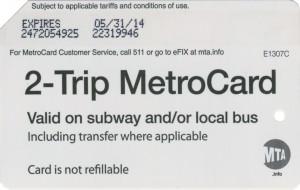 2 Trip Metorcard
