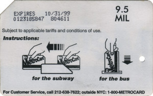 Paper Metrocard 9.5 MIL Weigh