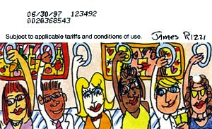 James Rizzi Subway Riders