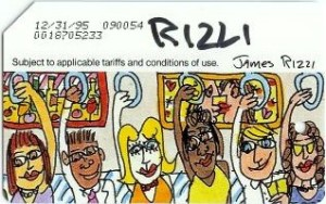 James Rizzi Autographed Metrocard