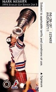 Mark Messier with the Cup