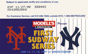 First Subway Series Blue