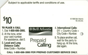 Bell Atlantic metrocard/phonecard
