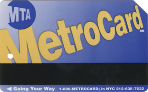 Regular Metrocard Blue Front
