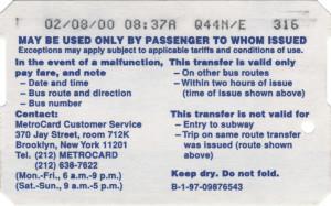 Bus Transfer 2000 Back