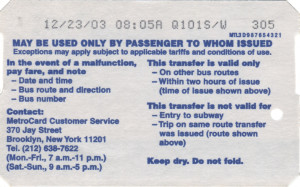 Bus Transfer 2003 Back