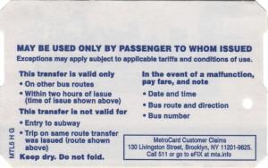 Bus Transfer 511 Phone Back