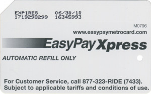 Gold Easy Pay Xpress Back