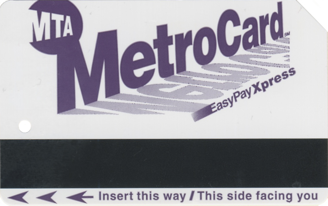 NYC Transit Metrocard Unofficial Web Site · Easy Pay Metrocard