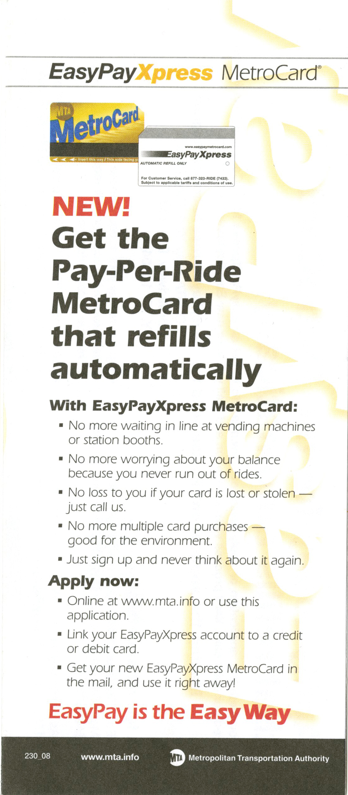 Nyc Transit Metrocard Unofficial Web Site Easy Pay Metrocard
