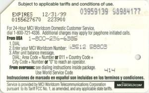 MCI metrocard/phonecard