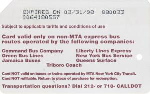 Queens Bus Back 1st version
