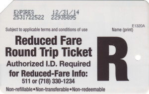 Reduced Fare Round Trip Back