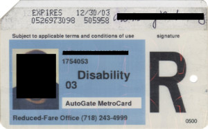 Reduced Fare Metrocard for People with Disabilities Man AutoGate