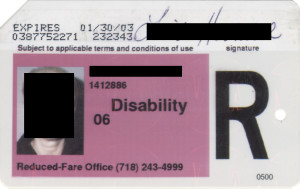 Reduced Fare Metrocard for People with Disabilities Women 2003