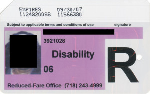 Reduced Fare Metrocard for People with Disabilities Women 2007
