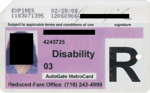 Reduced Fare Metrocard for People with Disabilities Women AutoGate