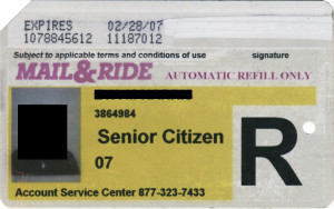 Regular Senior Citizen Reduced Fare Metrocard for Woman Mail & Ride