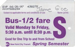 Bus Half Fare Spring Semester