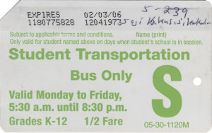 Bus Only Half Fare