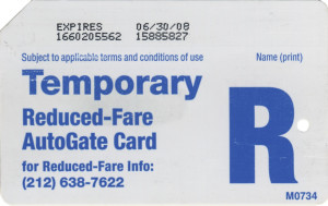 Temporary Reduced Fare AutoGate Back