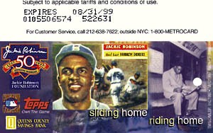 Jackie Robinson Topps and Queens Bank