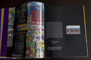 Centerfold of the book with metrocard attached