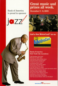 Jazz flier by Bank of America
