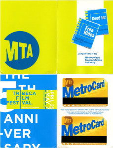 TriBeCa film festival two $2 metrocards promotion