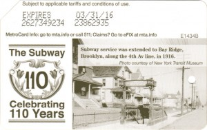 Subway 110 years - Brooklyn