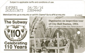 Subway 110 years - Manhattan