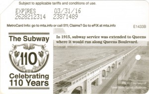 Subway 110 years - Queens